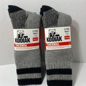 Kodiak Thermal Wool Socks 4 Pairs Men's Gray